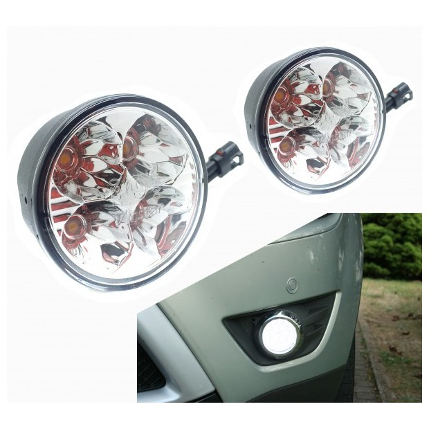 Luces diurnas de dia LED redondas homologadas - Tipo 2